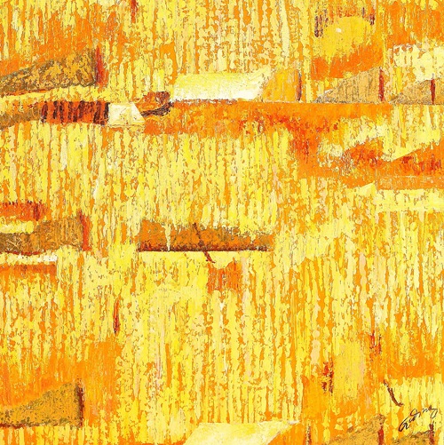 Golden Harvest by Giding is a painting that will work with a modern interior design