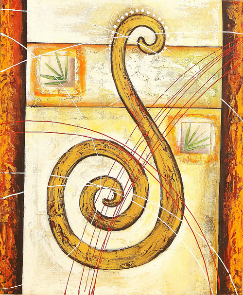 Reverse Clef by Eka is a painting that will work with a modern interior design
