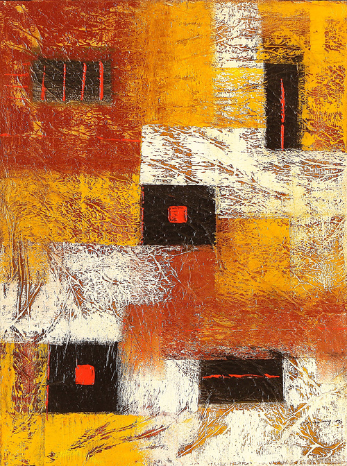 Sadiana Abstract 256 by Sadiana is a painting that will work with a modern interior design