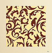 Spring Time Brown by Eka is a painting that will work with a modern interior design