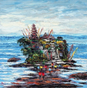 Painting for sale |Approaching Tanah Lot by Azis Onassis