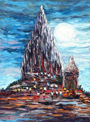 Prambanan by Azis Onassis Original Fine Art from Ketut Rudi