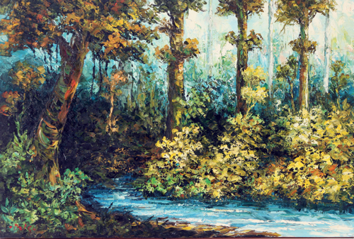 Deep in the Forest by Azis Onassis Original Fine Art from Ketut Rudi