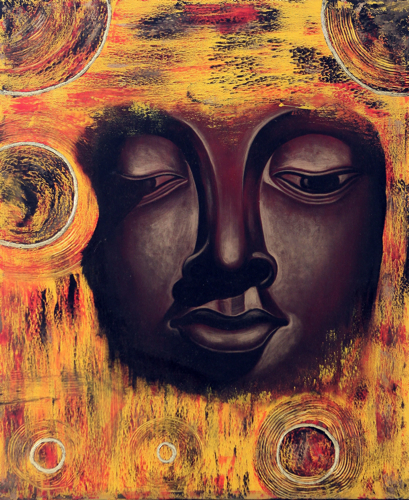 Gautama by Wayan Danas Original Fine Art from Ketut Rudi