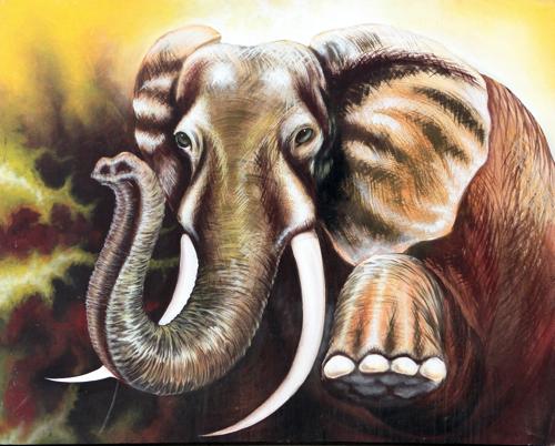 Into the Eyes of the Bull by Darwin Original Fine Art from Ketut Rudi