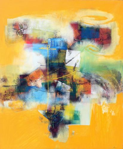 Swathes of Colour by Mahendra Original Fine Art from Ketut Rudi