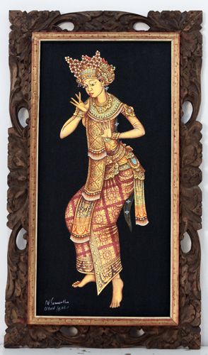 Balinese Dancer - The Birth of Mudra by Sumertha Original Fine Art from Ketut Rudi