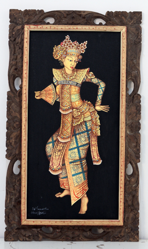 Balinese Dancer - Attributes of the Divine by Sumertha Original Fine Art from Ketut Rudi