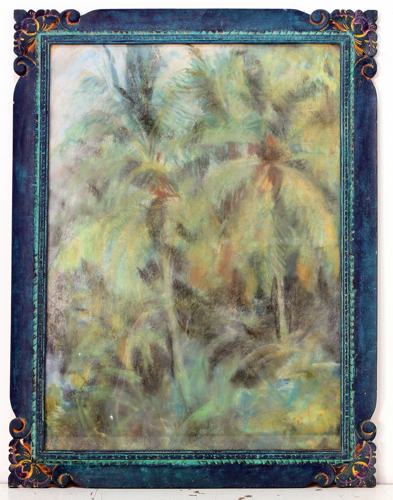 Palm Trees by Elisabeth Pirat Original Fine Art from Ketut Rudi