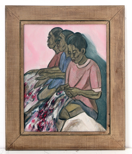 The Textile Workers by Purwadi Original Fine Art from Ketut Rudi