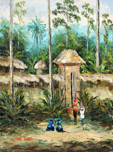 Returning Home by Soleh Jablay Original Fine Art from Ketut Rudi