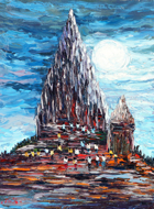 Prambanan by Azis Onassis Original Fine Art from Ketut Rudi
