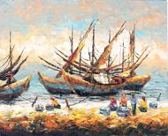 Sorting the Catch by Azis Onassis Original Fine Art from Ketut Rudi