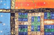 The Patchwork Quilt by Ketut Buncing Original Fine Art from Ketut Rudi
