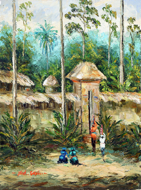 Returning Home by Soleh Jablay Original Fine Art from Ketut Rudi