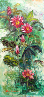 Tropical Flowers by Soleh Jablay Original Fine Art from Ketut Rudi