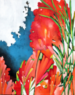 The Flower Meadow by Made Sukadana Original Fine Art from Ketut Rudi