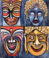 Masques by Yanto Original Fine Art from Ketut Rudi