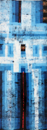 Abstract in Blue by Yanto Original Fine Art from Ketut Rudi