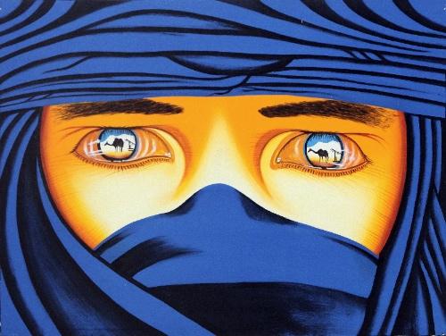 Through the Mask (blue) by Yudistira Original Art