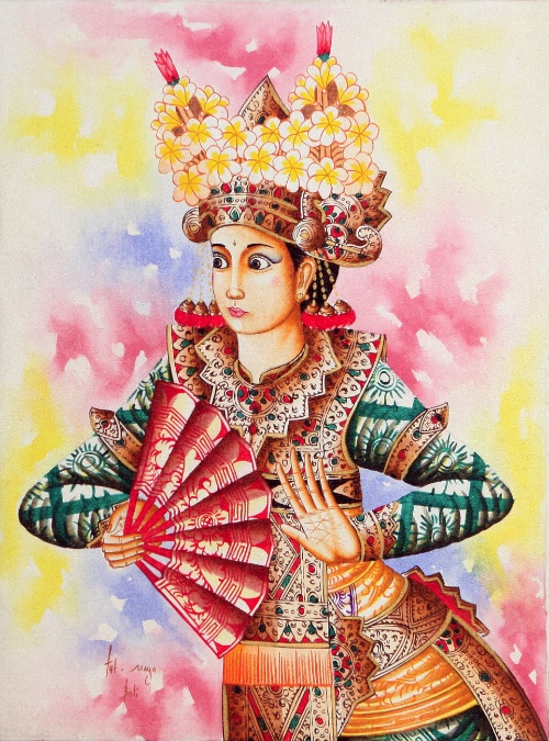 Legong: The Dancer by Ketut Dwipayana Original Art