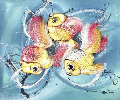Trio by Yanto Original Art