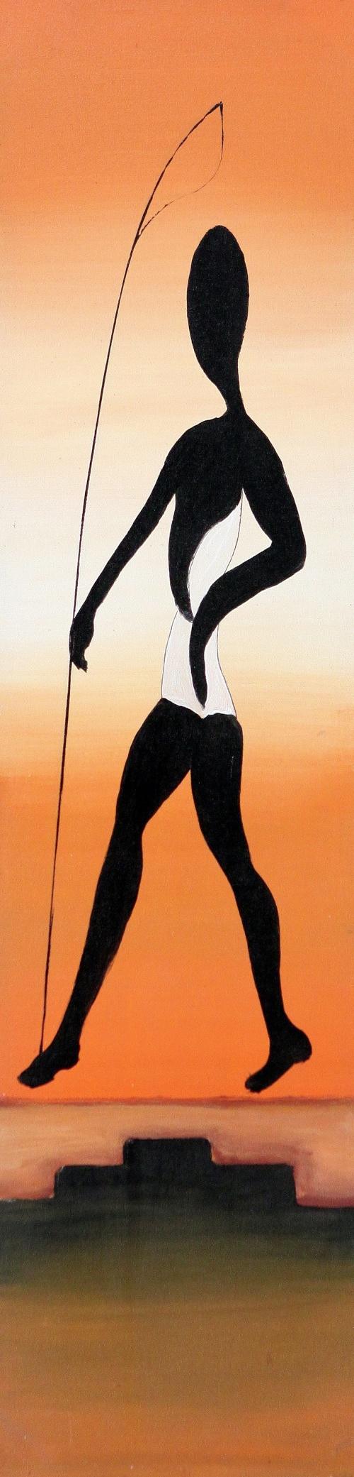 The Fisherman by Wardika Original Art