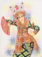 Legong: The Dancer by Ketut Dwipayana Original Art