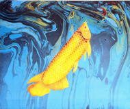 Yellow Arowana by Yanto Original Art