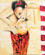 A Lover's Touch by G. Sri Original Art
