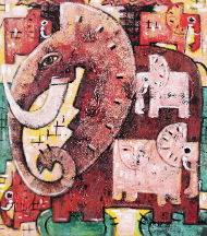 Elephantasy by Banges Quality Fine Art from Bali, Indonesia - Wayan Arnaya