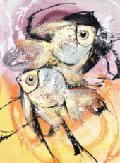 Kuta Fish by Md. Suasta Quality Fine Art from Bali, Indonesia - Wayan Arnaya